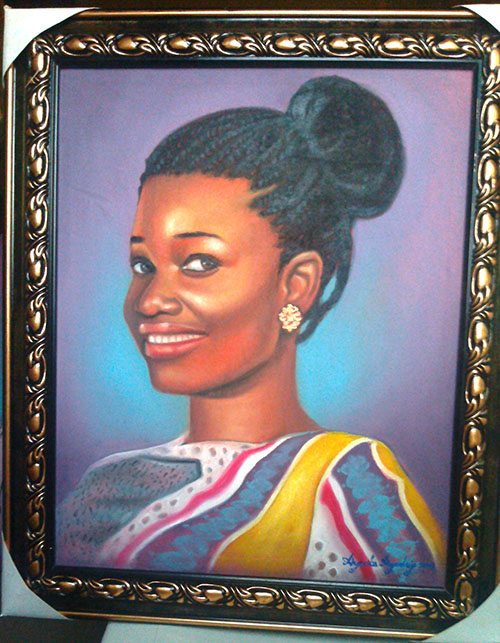 portrait painting in stages by ayeola ayodeji abiodun awizzy