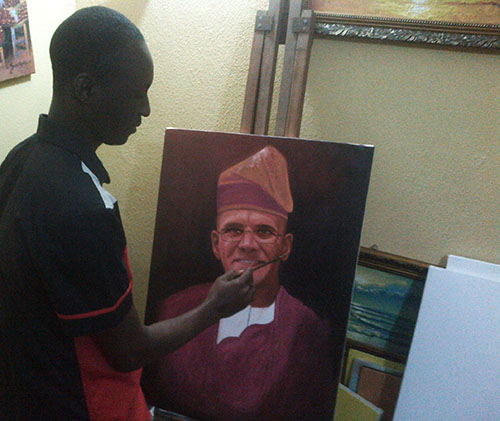 gregoire painting in the making