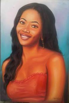 portrait painting by ayeola ayodeji