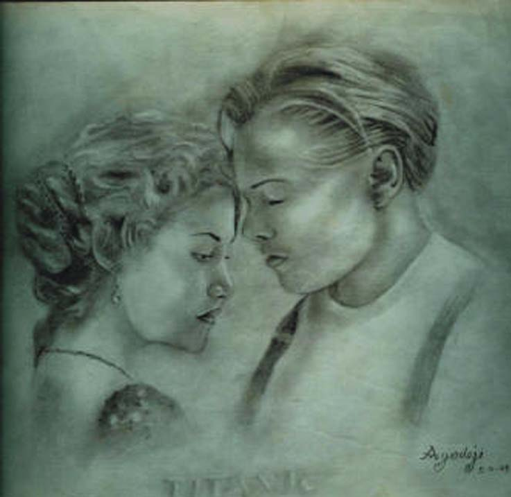 Titanic pencil drawing by ayeola ayodeji awizzy