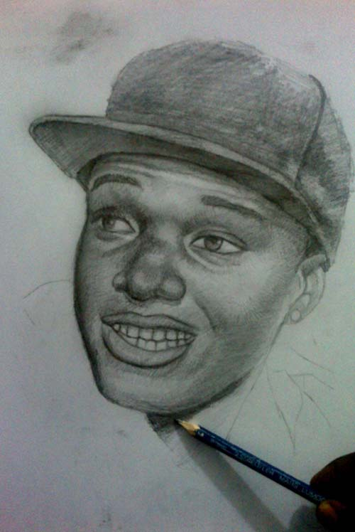 Wizkid drawing by ayeola ayodeji