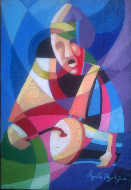 drummer painting by ayeola ayodeji abiodun awizzy