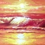 sunset seascape painting by Ayeola Ayodeji Abiodun Awizzy