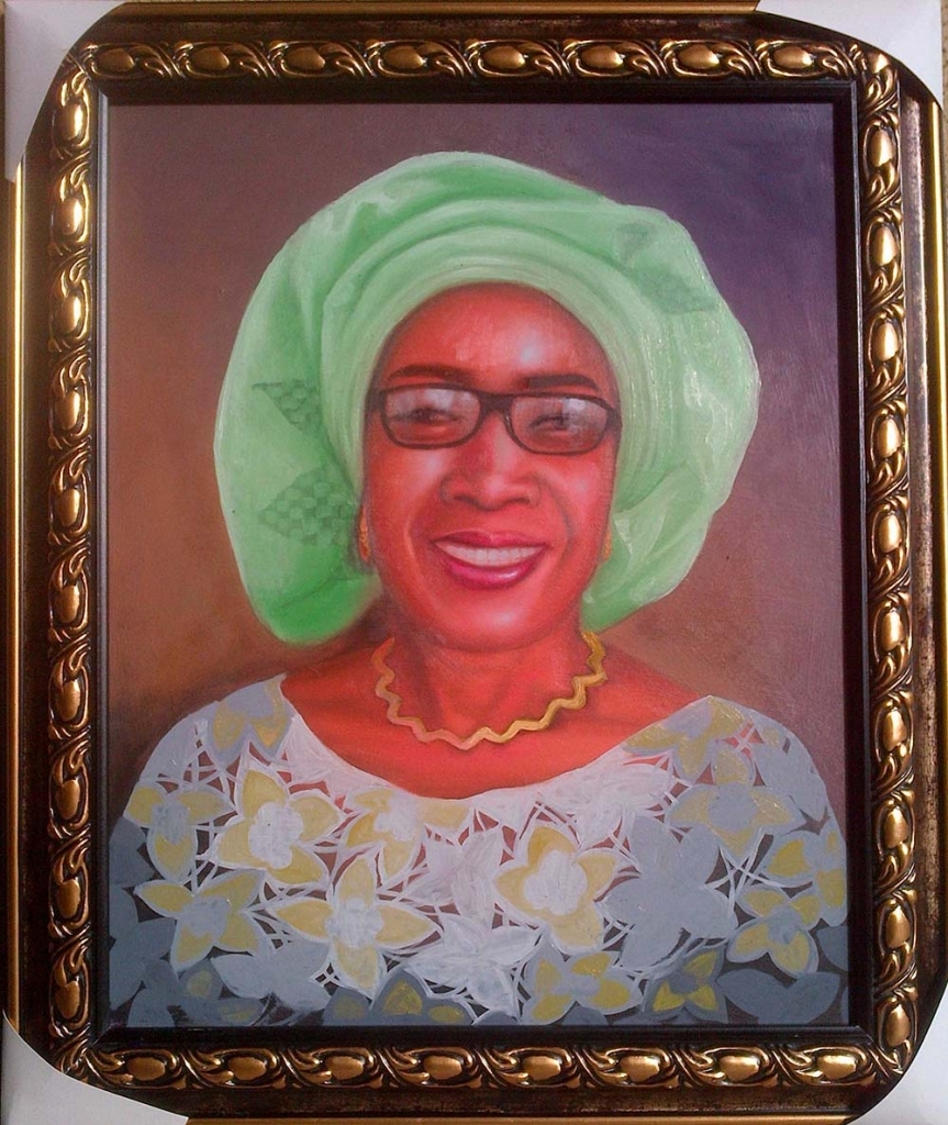 How to paint portrait of Mrs rosaline akinyeye finished painting 863x1024 How to paint portrait of Mrs Rosaline Akinyeye