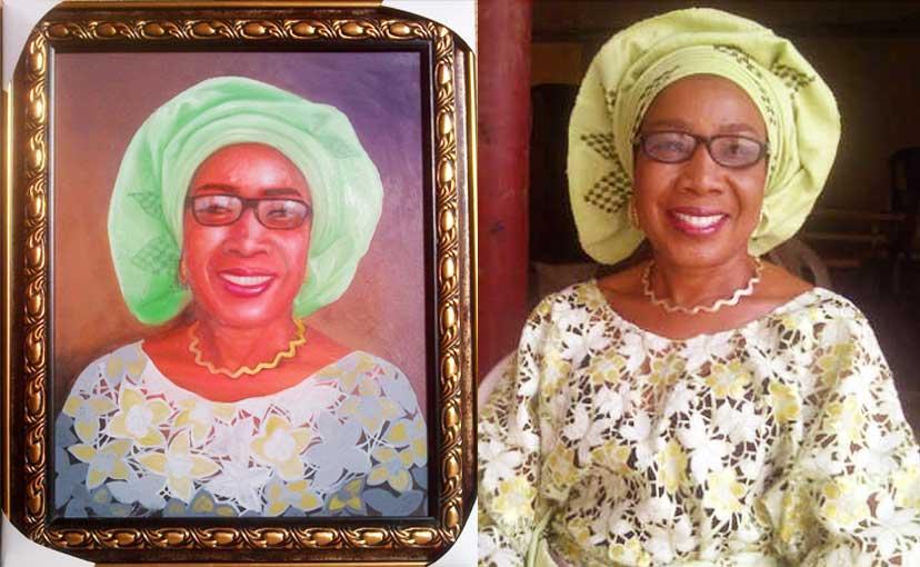 How to paint portrait of Mrs rosaline akinyeye finished How to paint portrait of Mrs Rosaline Akinyeye