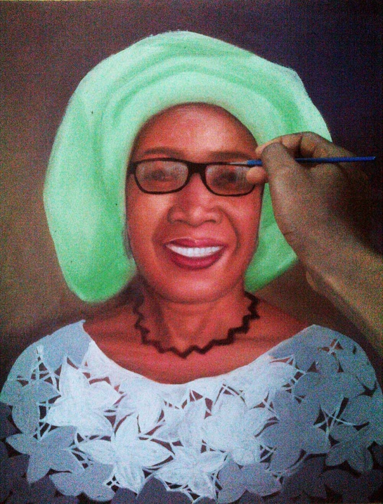 How to paint portrait of Mrs rosaline akinyeye last stage 779x1024 How to paint portrait of Mrs Rosaline Akinyeye