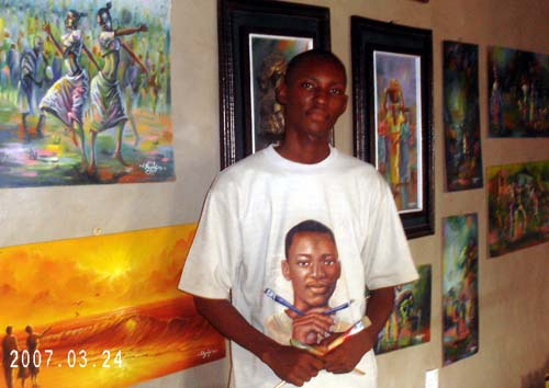 africa best painter. ayeola ayodeji 30 No 1 artist in lagos nigeria