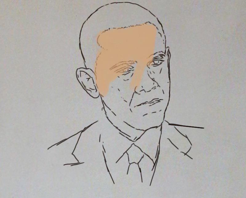 obama painting ayodeji ayeola making 1 Portrait painting of Barack Obama