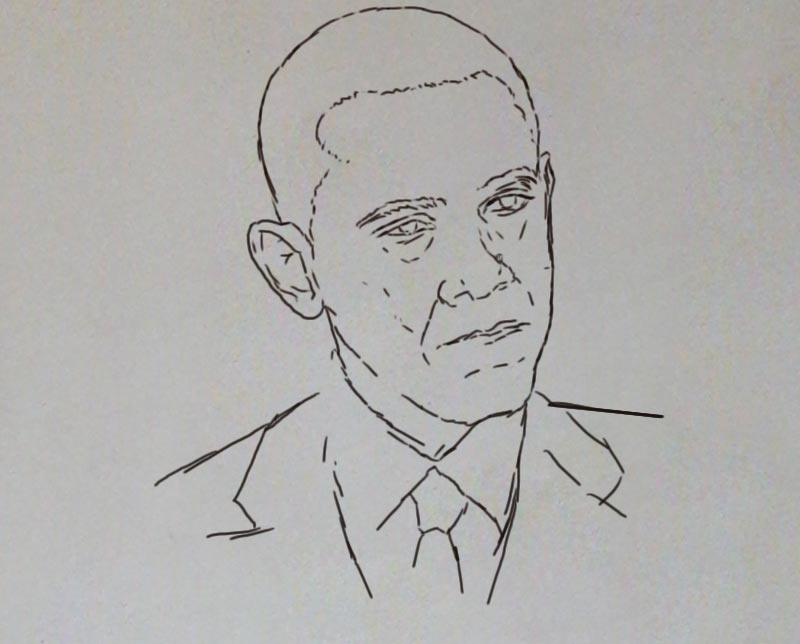obama painting ayodeji ayeola1 Portrait painting of Barack Obama