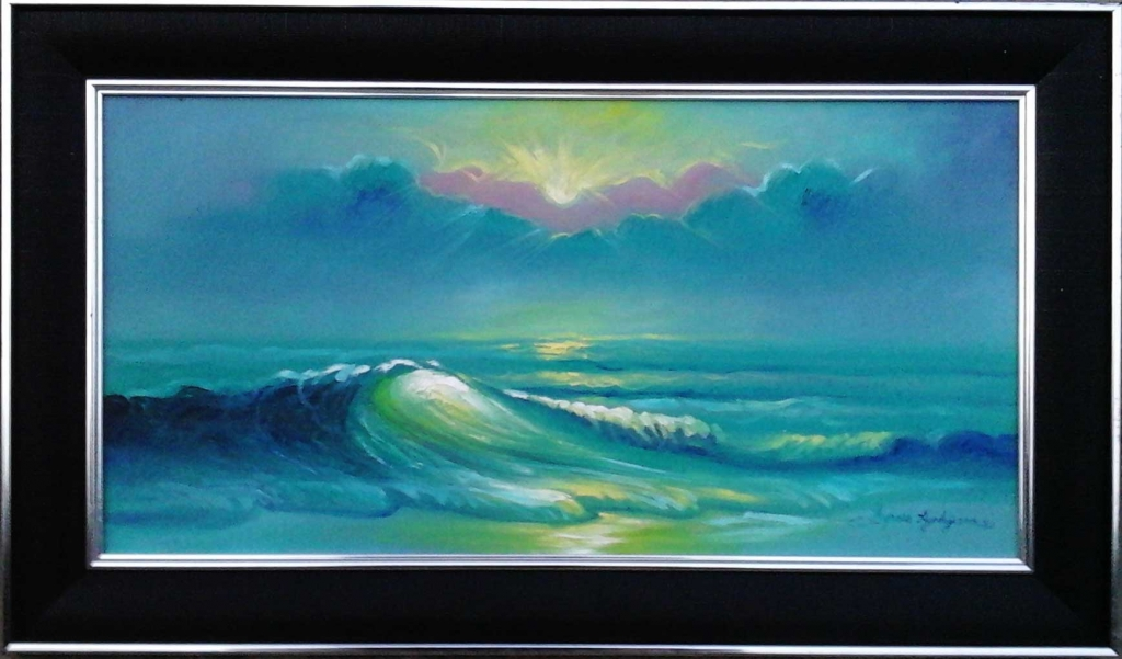 seascape painting finisheshed work 1024x601 Seascape Painting