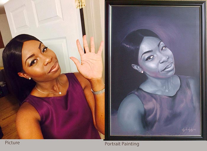 black and white portrait painting by ayodeji ayeola 3 No 1 artist in lagos nigeria