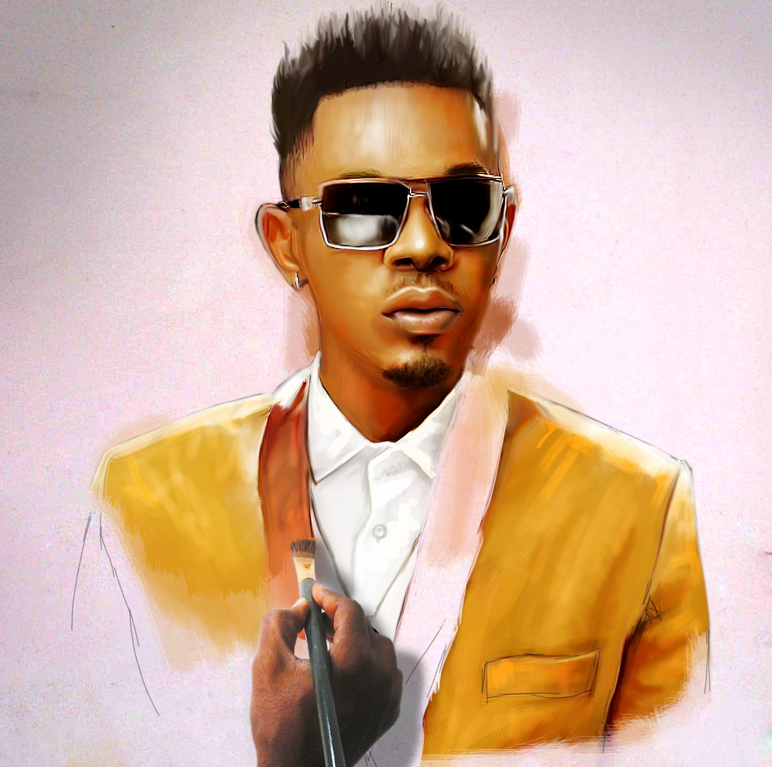tmp 12336 patoranking sketch 3 564433788 Tonto Dikeh pencil drawing by ayeola ayodeji