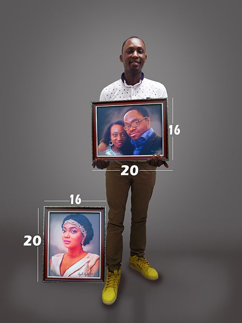 16by20inches portrait painting by ayeola ayodeji 500x667 Home