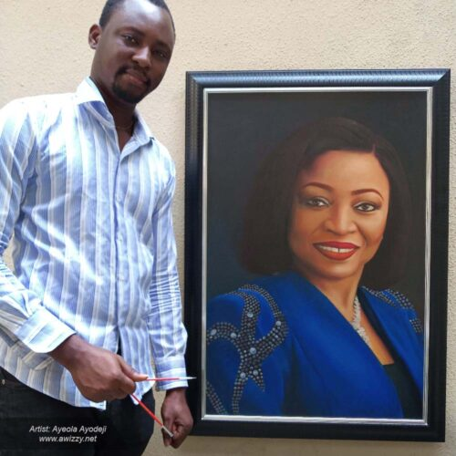 24x36 folorunso alakija painting 500x500 Artwork paintings from Nigeria Africa