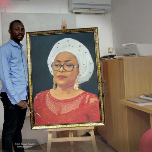 36x48inches portrait painting drawing size uloma egbuna 500x500 Artwork paintings from Nigeria Africa