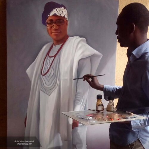 Lifesize portrait painting drawing2 500x500 Artwork paintings from Nigeria Africa