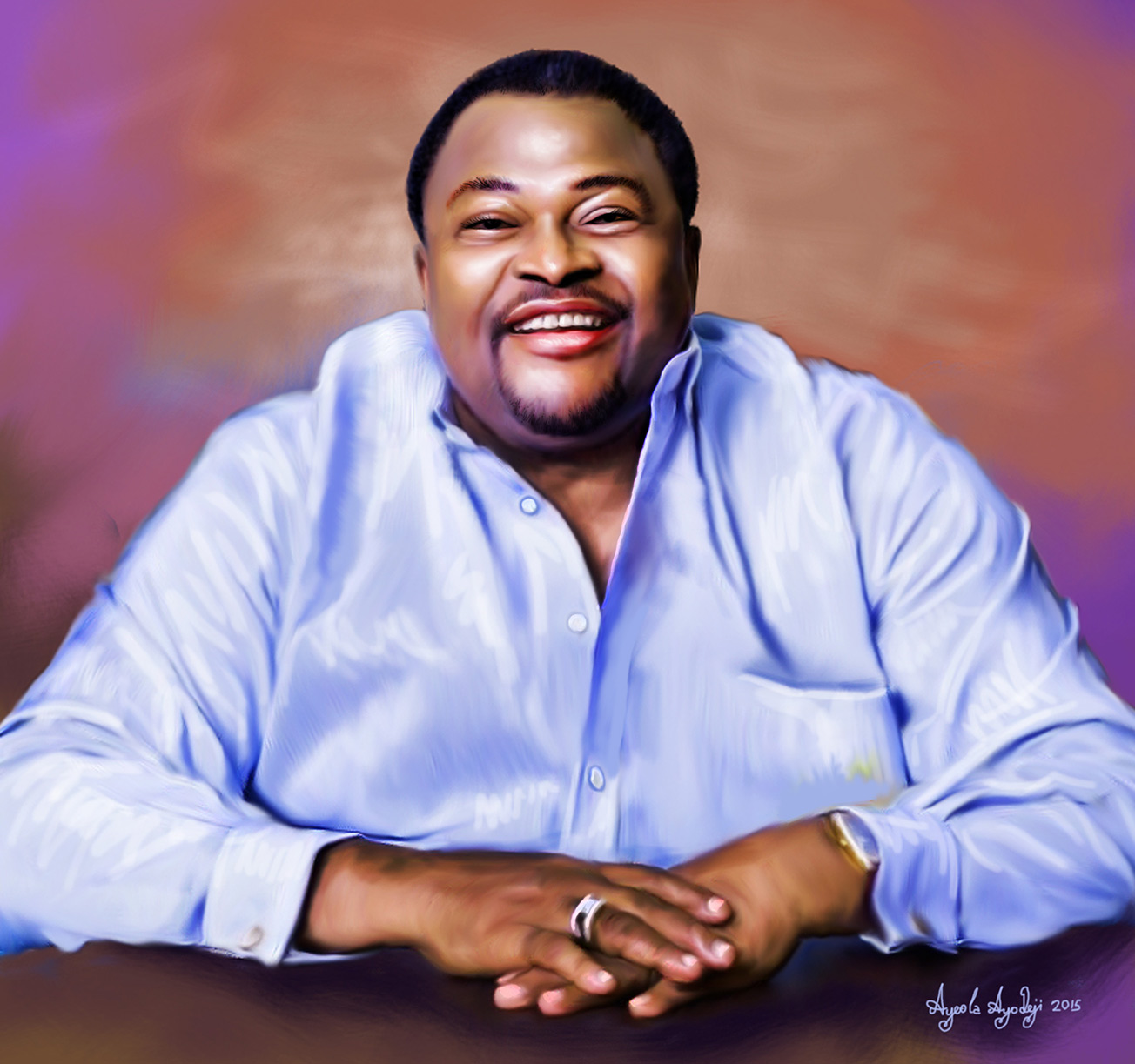 mike adenuga portrait painting