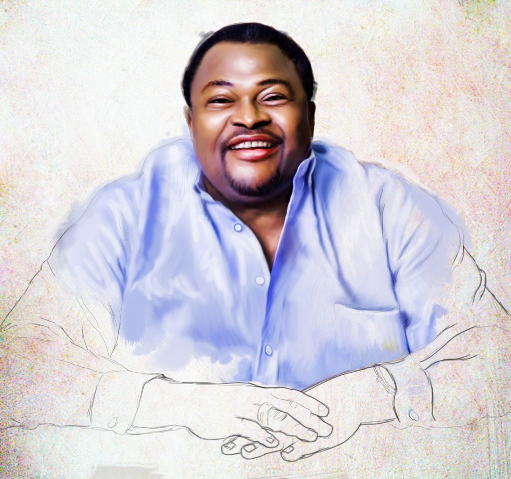 mike adenuga portrait stage 2 1024x960 Mike Adenuga portrait painting by Ayeola Ayodeji
