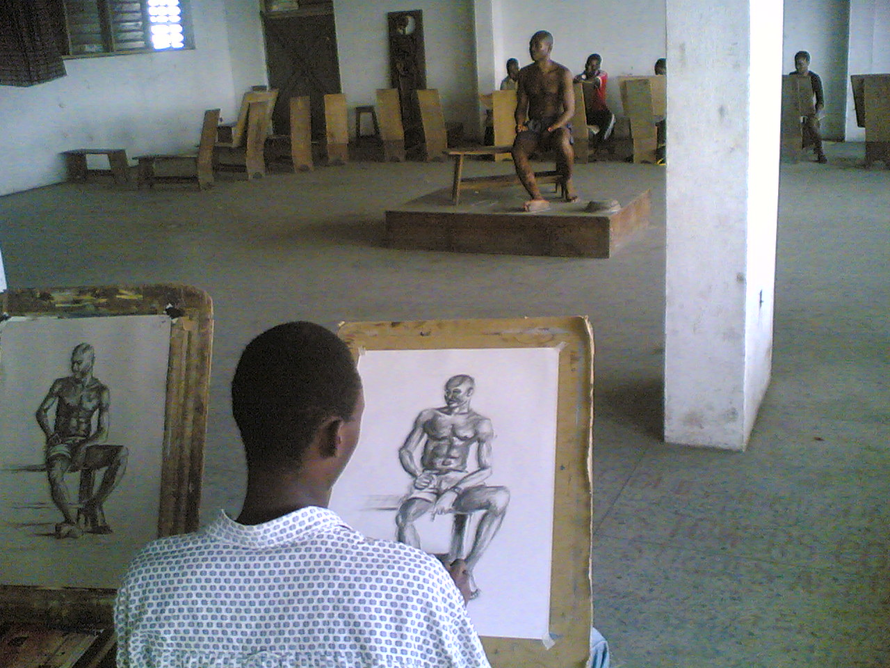 tmp 16210 life drawing class 5 795783096 Tonto Dikeh pencil drawing by ayeola ayodeji
