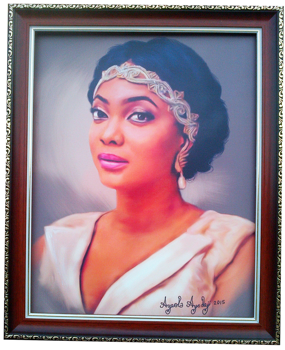 portrait painting of yetunde dunia eniola abegunde