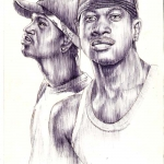 psquare portrait drawing by artist ayeola ayodeji