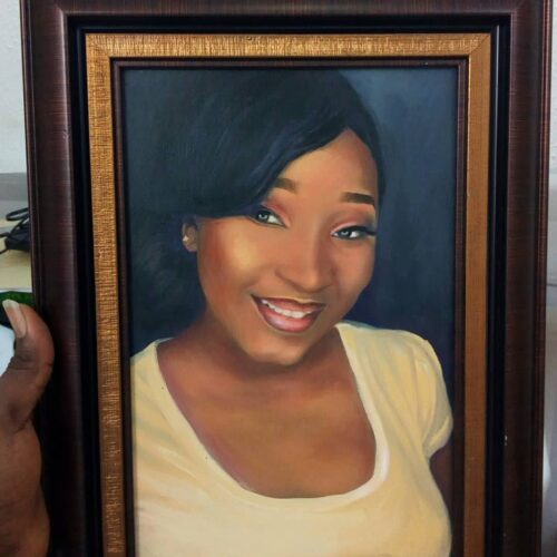 8 x 12 inches size 500x500 Artwork paintings from Nigeria Africa