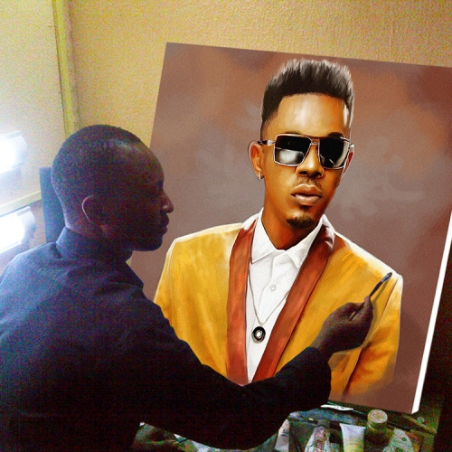 ayodeji ayeola painting patoranking 30 by 32inches portrait painting art 500x500 artwork paintings from Nigeria Africa