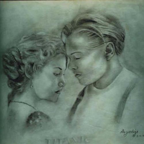 titanic pencil work by ayeola ayodeji 500x500 super realistic portrait paintings by artist ayeola ayodeji