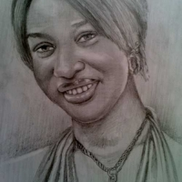 tono dike portrait drawing by artist ayeola ayodeji