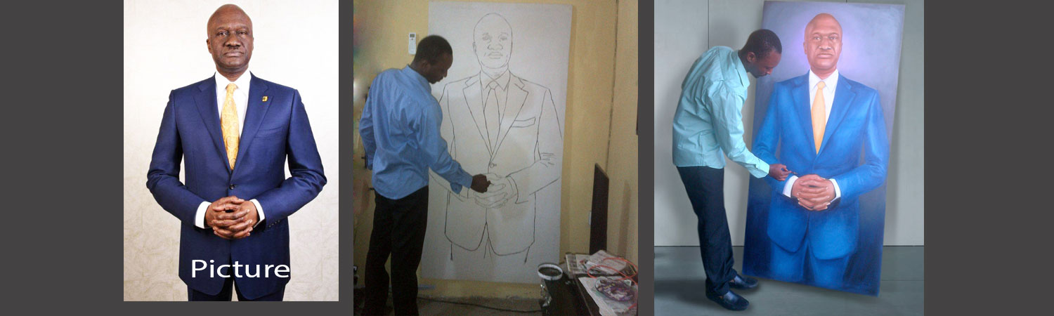 portrait painting banner akinwunmi fanimokun best art website in Lagos, Abuja, Nigeria west Africa