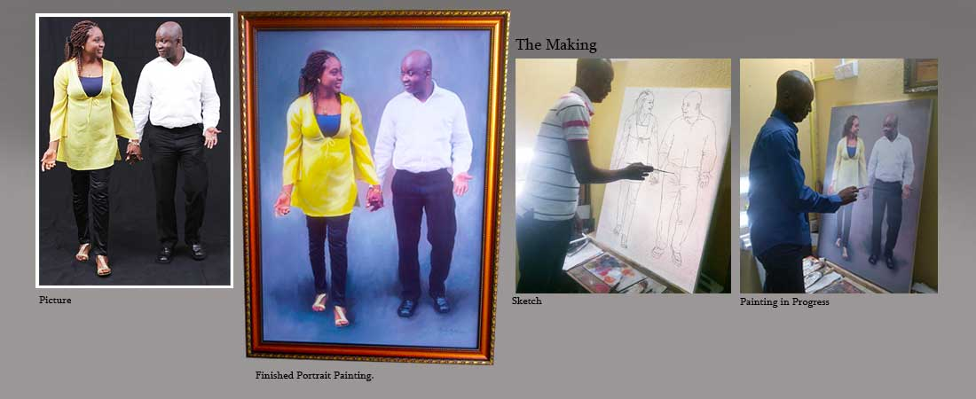 portrait painting banner lucas labaran cost of portrait in nigeria