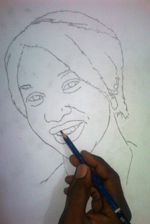 tonto dike drawing 1 Tonto Dikeh pencil drawing by ayeola ayodeji