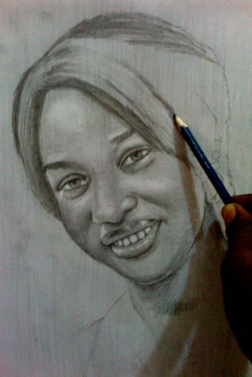 tonto dike drawing 3 Tonto Dikeh pencil drawing by ayeola ayodeji