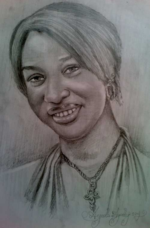tonto dike drawing 5 Tonto Dikeh pencil drawing by ayeola ayodeji