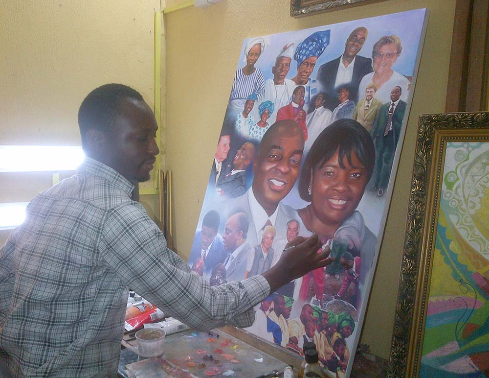 oyedopo painting 1 best artist in nigeria 2014