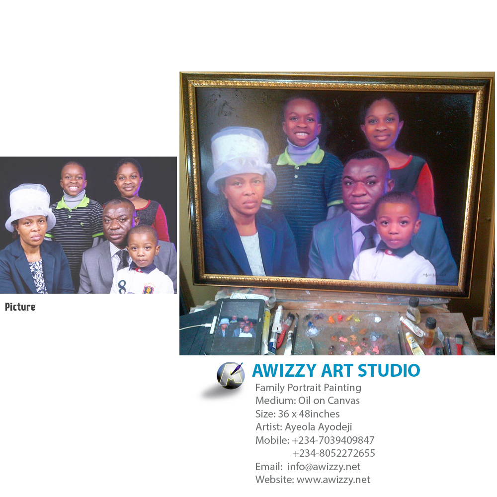 family painting south africa Portrait painting