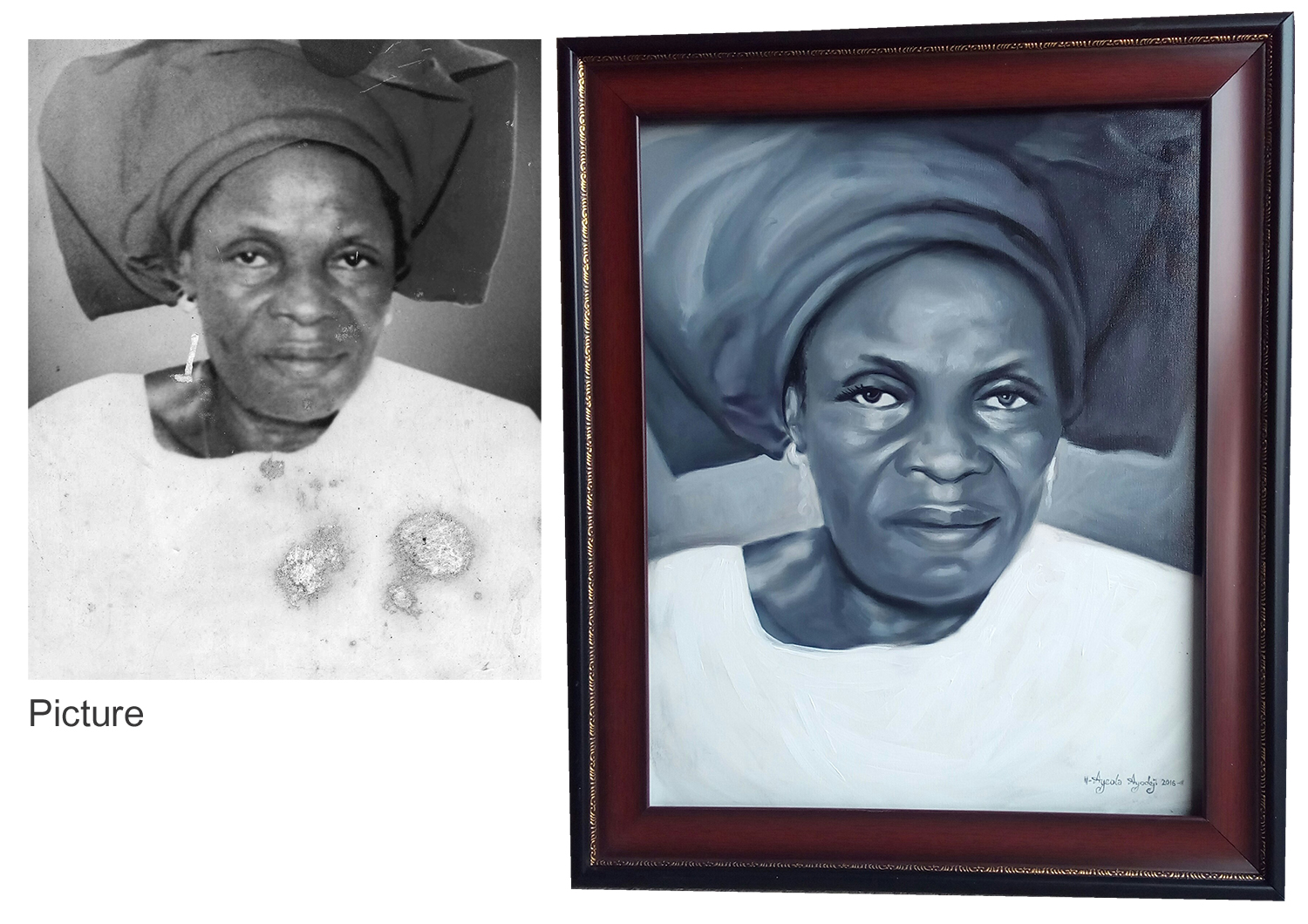 mama portrait painting Portrait painting