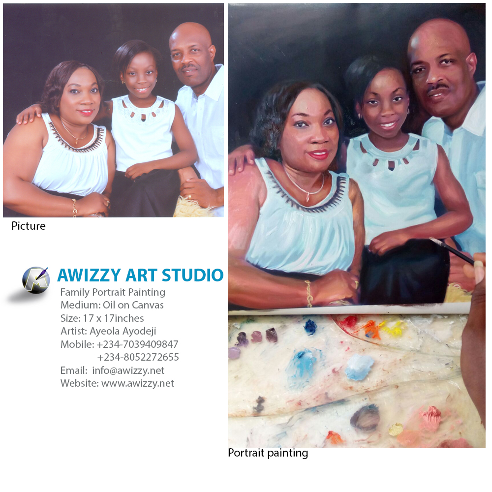 odukoya family painting  Portrait painting