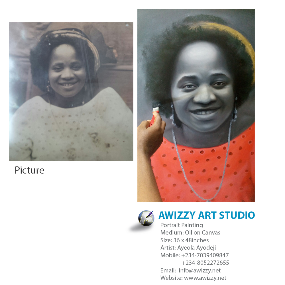 painting by artist from lagos nigeria Portrait painting