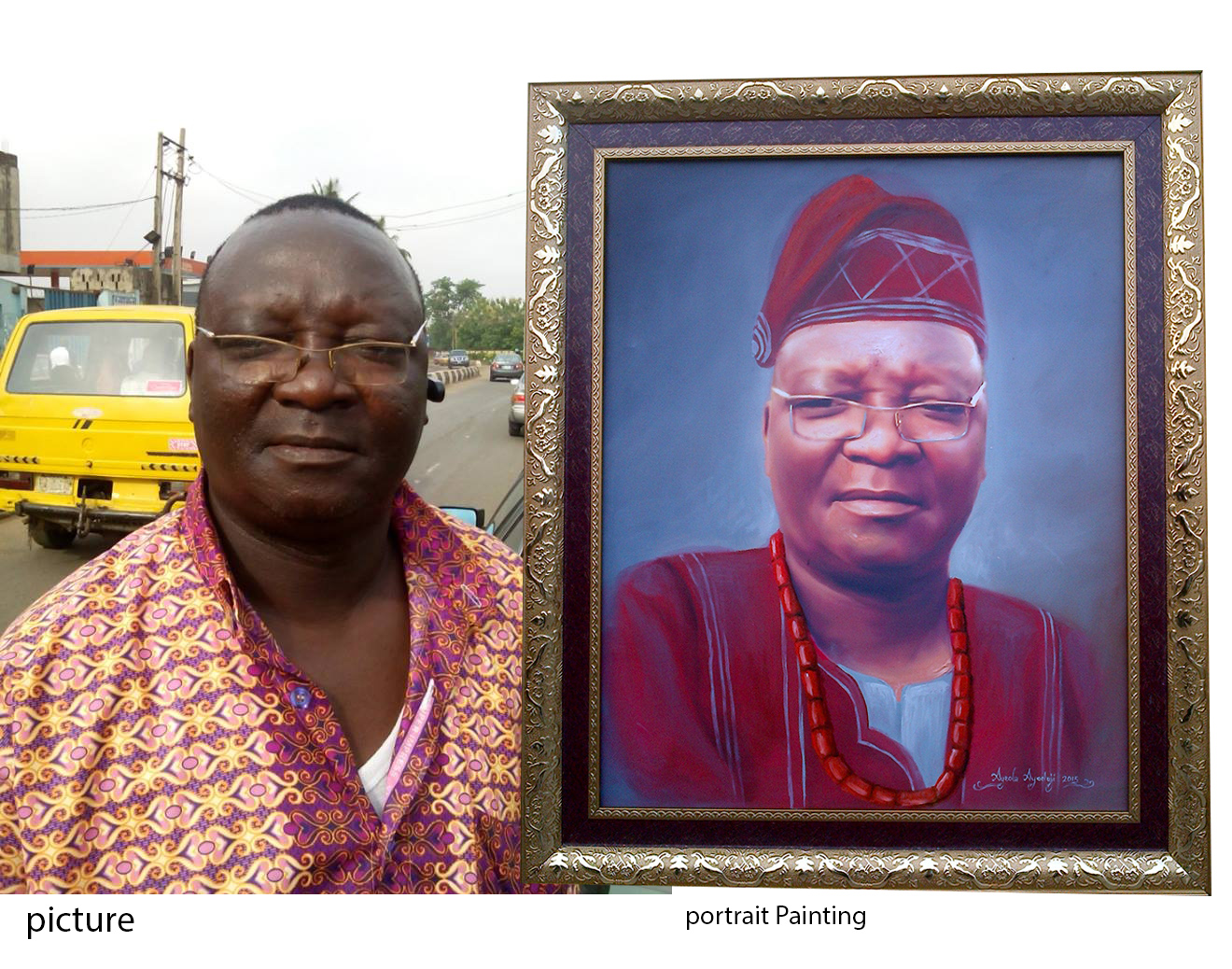 portrait painting for mutiu father inlaw Portrait painting