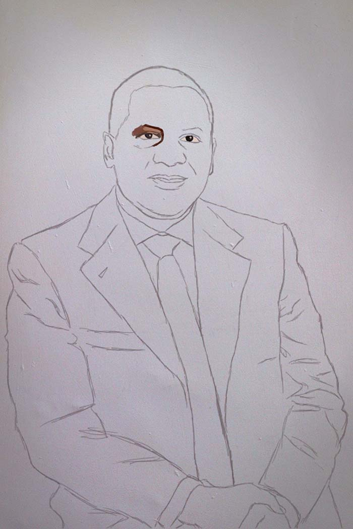 aliko dangote painting stage 1