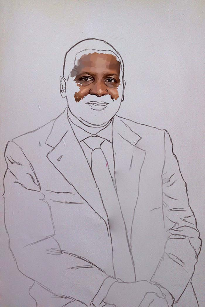 aliko dangote painting stage 2