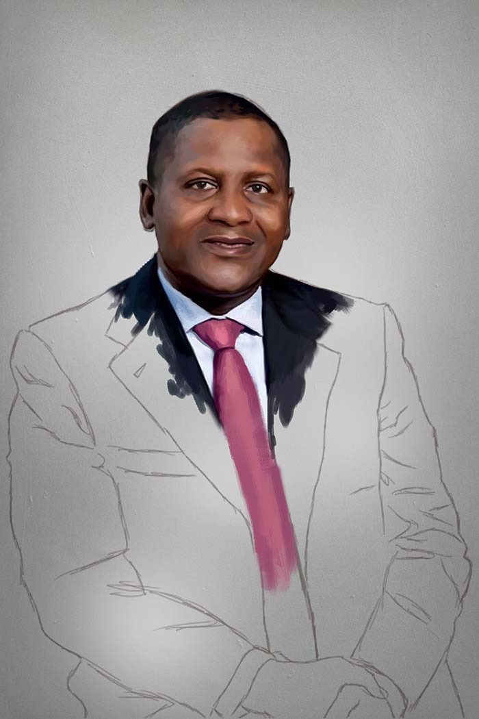 aliko dangote painting stage 4