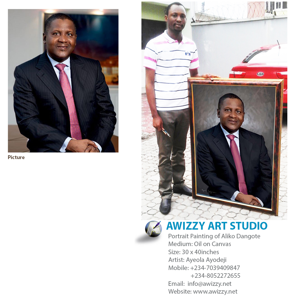 aliko dangote painting Portrait painting
