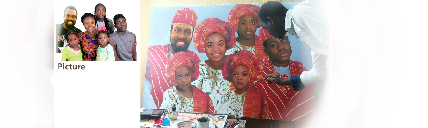 creative portrait painting banner Mike Adenuga portrait painting by Ayeola Ayodeji