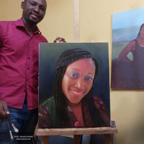 size 20x24 inches portrait painting