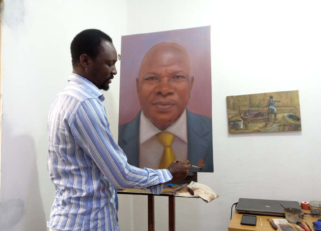 NAICOM Boss Mr Sunday Thomas Portrait Painting